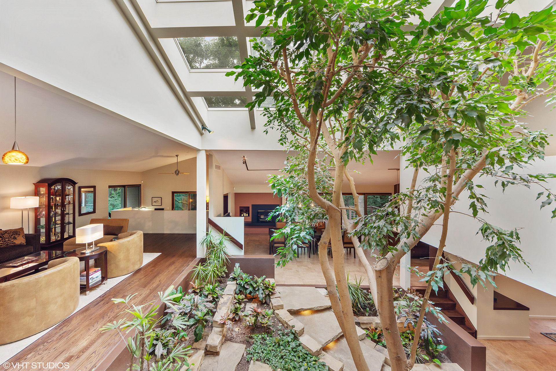 Atrium House by Dennis Blair in Barrington Hills