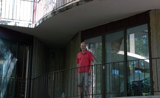Anders on one of his home's balconies