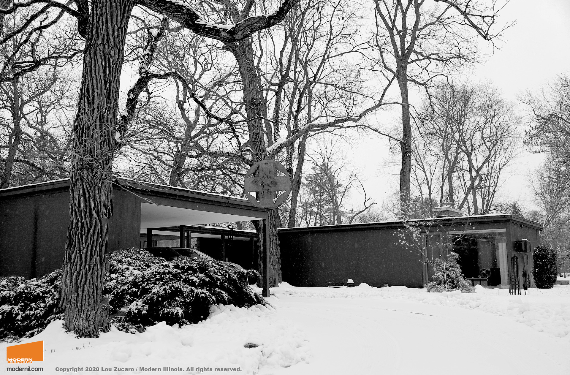 Architect: Dennis Blair. @ Copyright 2020 Lou Zucaro / Modern Illinois. All rights reserved. modernil.com