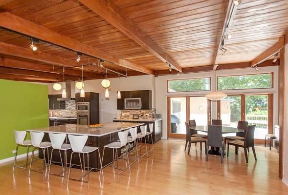 Gone Updated Butterfly Roof Mid Century Modern Ranch In