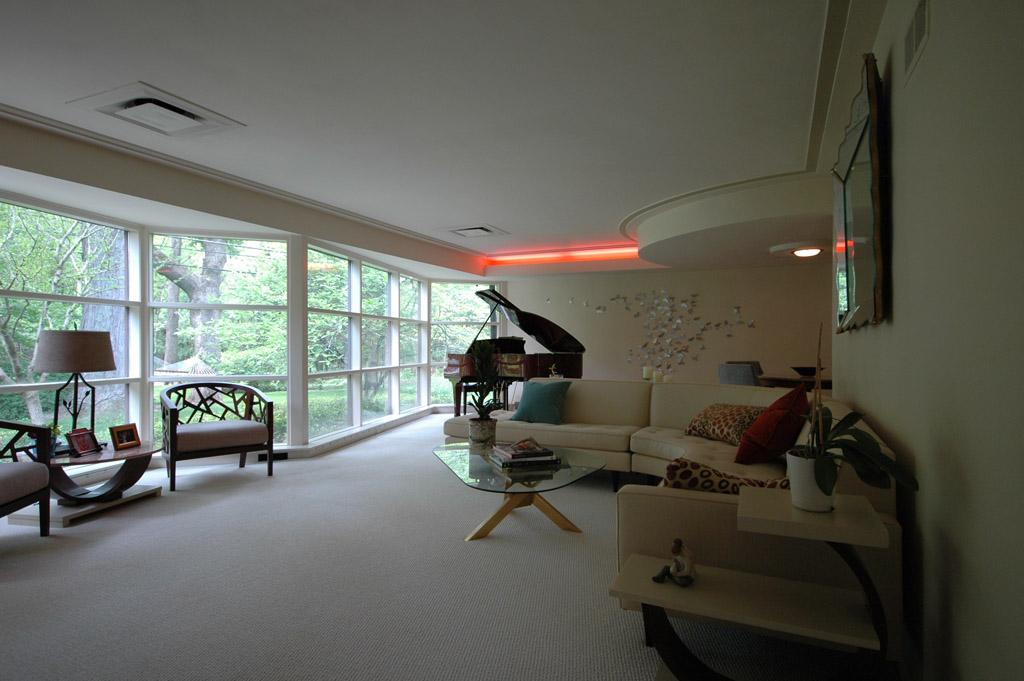 The living room / dining room