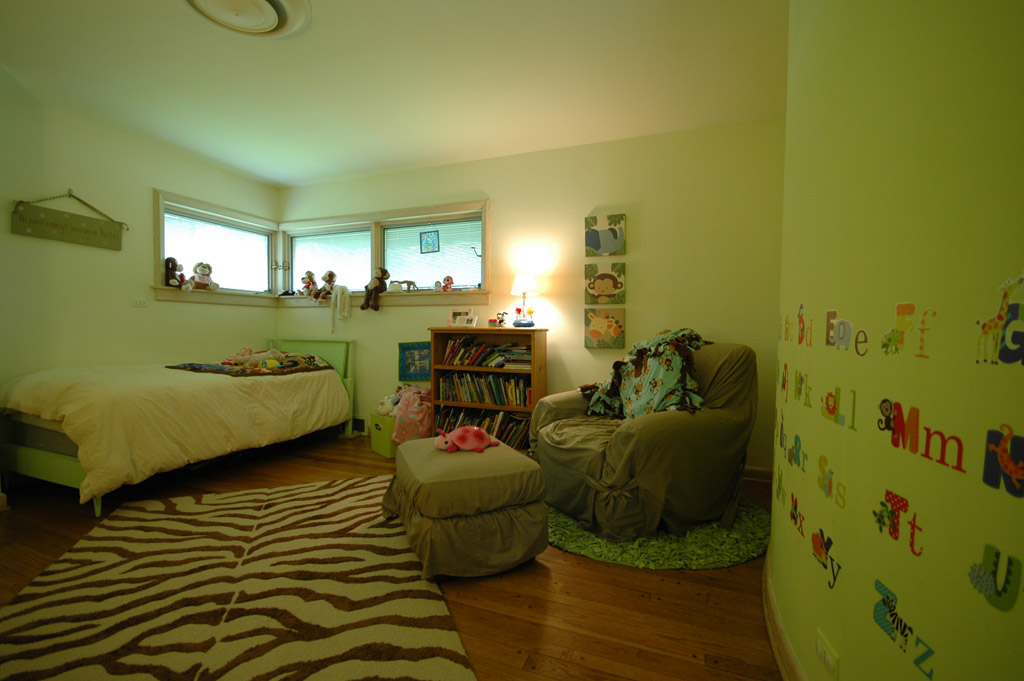 Another one of the home's bedrooms