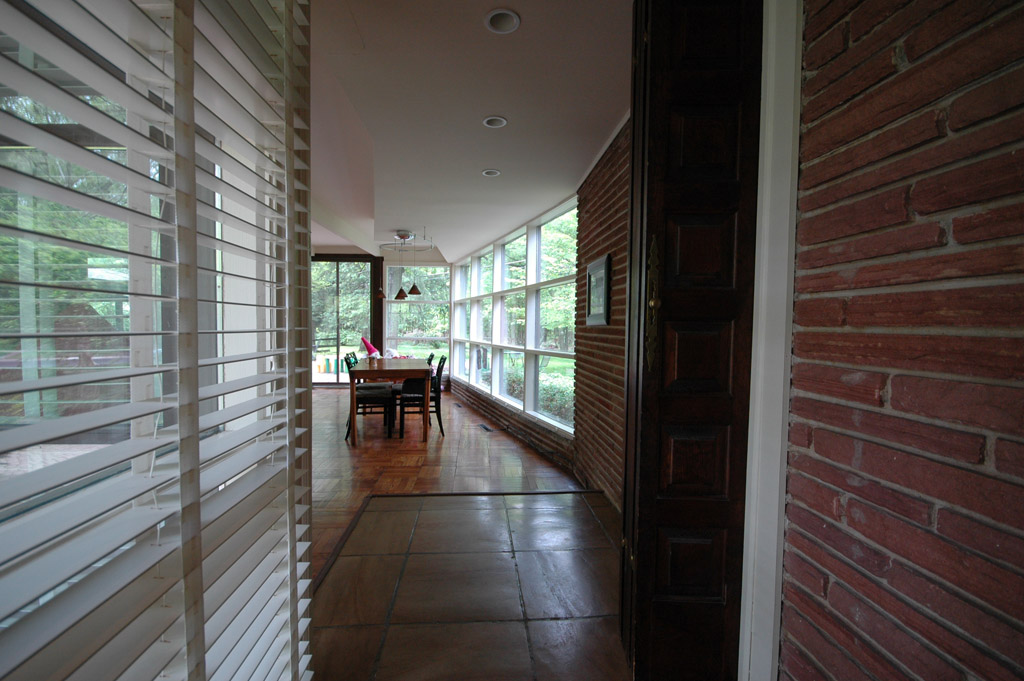Looking into the family room from the foyer