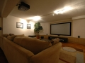 The rec room in the lower level is a great place to watch movies