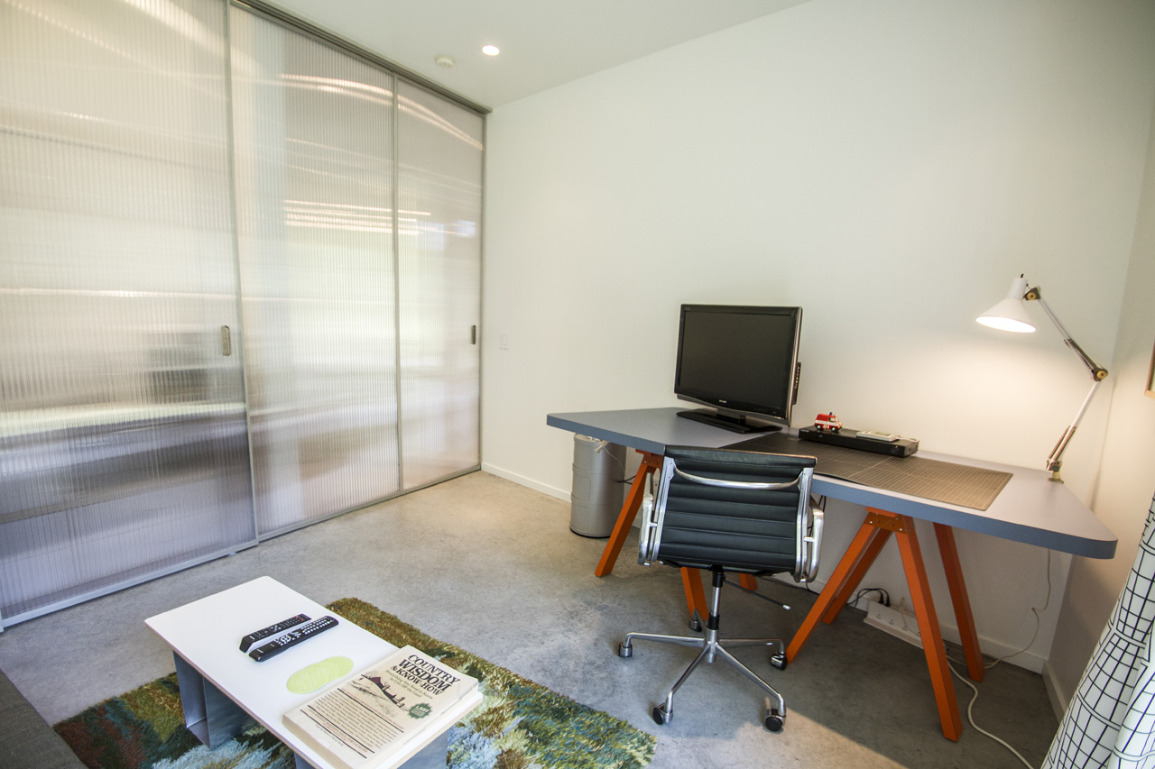 The 2nd bedroom was designed to be used as a studio / office