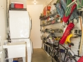 A StoreWall system adds significant storage in the laundry room