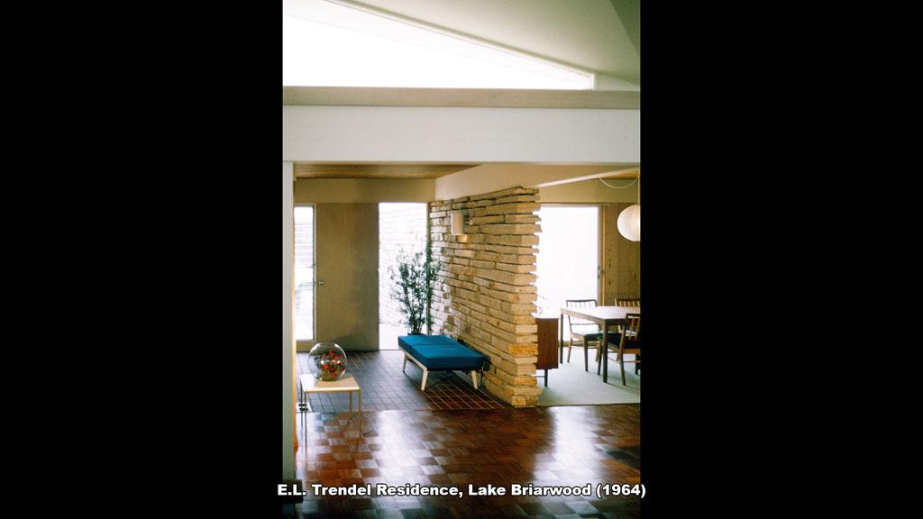 E.L. Trendel Residence, Lake Briarwood (1964) - Ronald Petralito - Architectural Designer