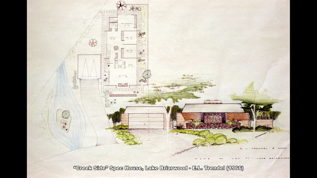 """Creek Side"" Spec House, Lake Briarwood - E.L. Trendel (1966) - Ronald Petralito - Architectural Designer"