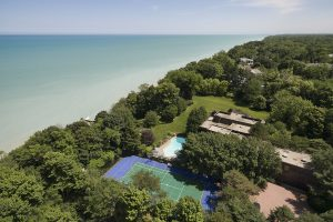 Spectacular Tony Grunsfeld Estate on Two Acres of Lake Michigan Lakefront