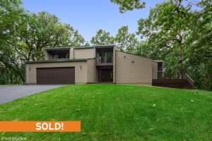 SOLD! Beautiful Atrium House by Dennis Blair on 5 Wooded Acres in Barrington Hills
