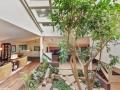 Atrium House by Dennis Blair in Barrington Hills