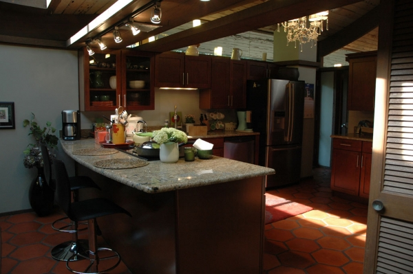 The kitchen that Min remodeled