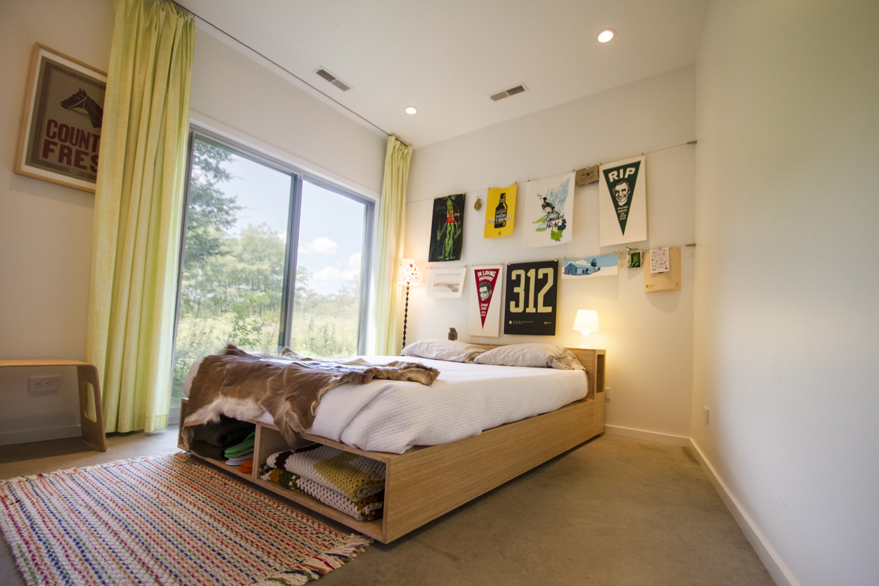 The 3rd bedroom features west-northwest views and is a lovely space for family or friends