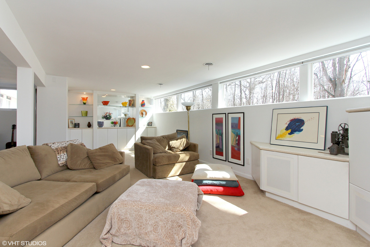 Sprawling, Expanded Brick Split Level by Dennis Blair in Long Grove ...