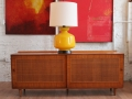 Finn Juhl Sideboard and Murano Glass Lamp