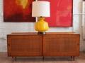 Finn Juhl Sideboard and Murano Glass Lamp