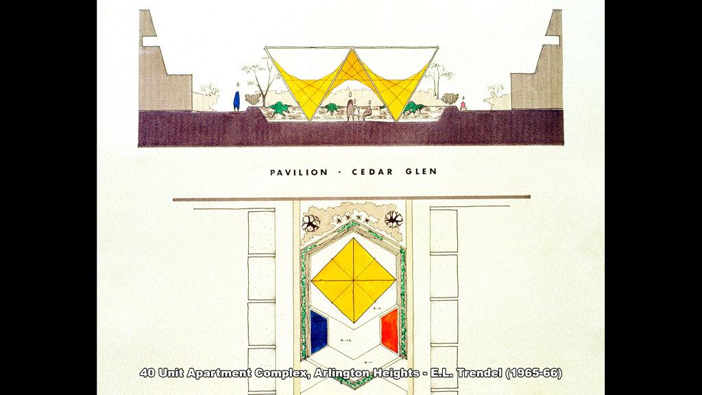 40 Unit Apartment Complex, Arlington Heights - E.L. Trendel (1965-66) - Ronald Petralito - Architectural Designer