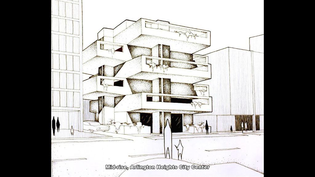 Mid-rise, Arlington Heights City Center (1966-67) - Ronald Petralito - Architectural Designer